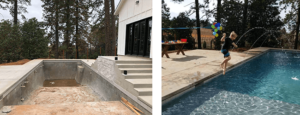 before and after pool remodel
